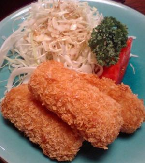 Tororo_croquette_with_cheese