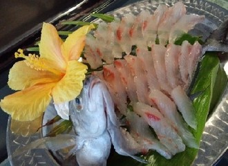 Horse_mackerel_with_hibiscus